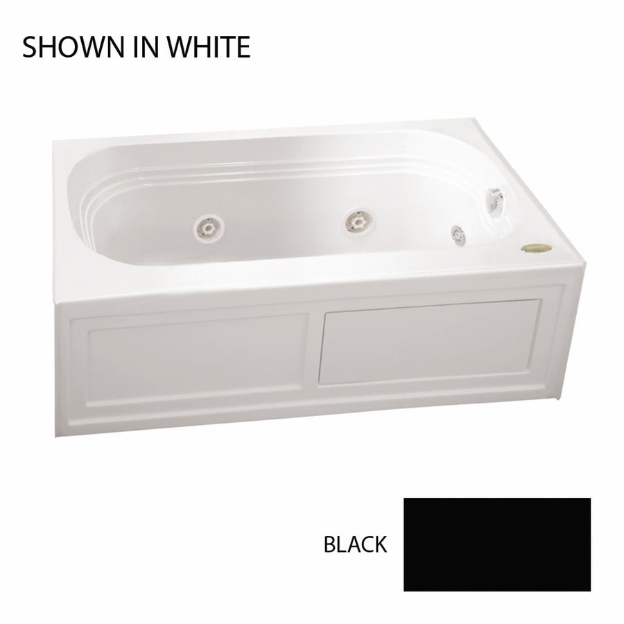 Jacuzzi Luxura 60-in Black Acrylic Alcove Whirlpool Tub with Left-Hand Drain