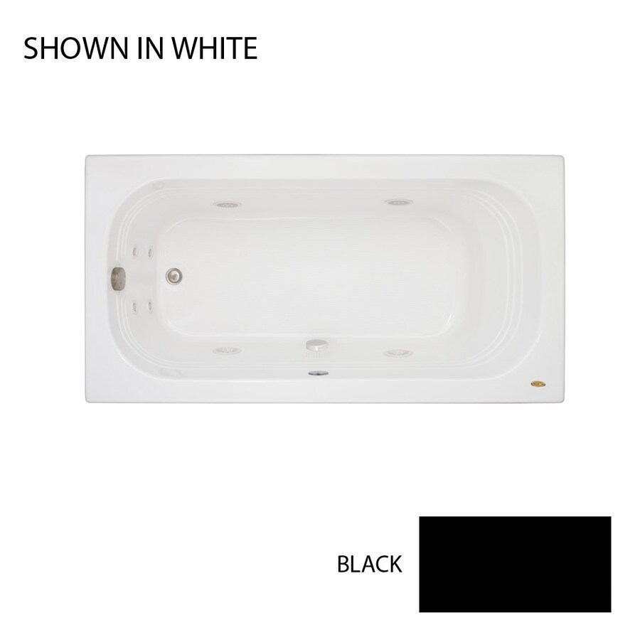Jacuzzi Luxura Black Acrylic Rectangular Whirlpool Tub (Common: 32-in x 60-in; Actual: 20.25-in x 32-in x 60-in)