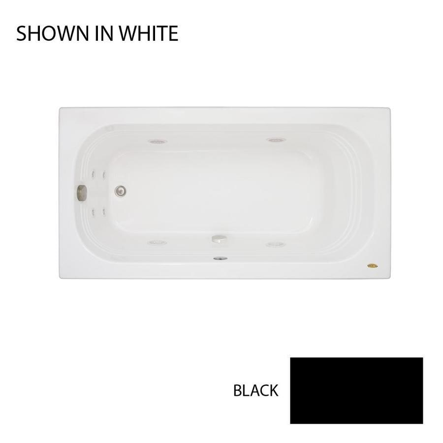 Jacuzzi Luxura 66-in Black Acrylic Drop-In Whirlpool Tub with Right-Hand Drain