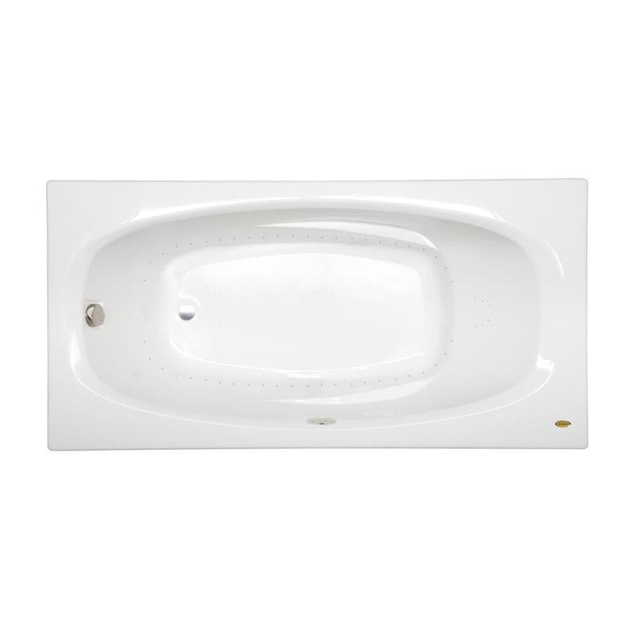 Jacuzzi Amiga 72-in White Acrylic Skirted Air Bath with Reversible Drain