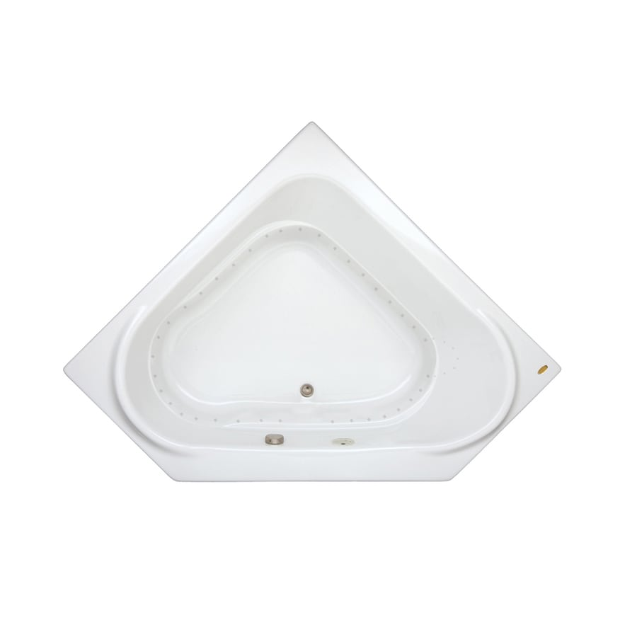 Jacuzzi Capella 60-in White Acrylic Alcove Air Bath with Front Center Drain