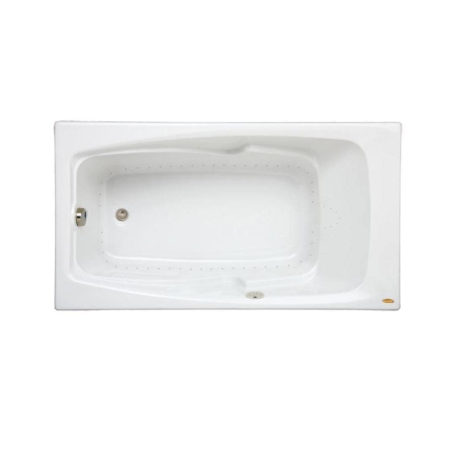 Jacuzzi Cetra 60-in White Acrylic Alcove Air Bath with Reversible Drain