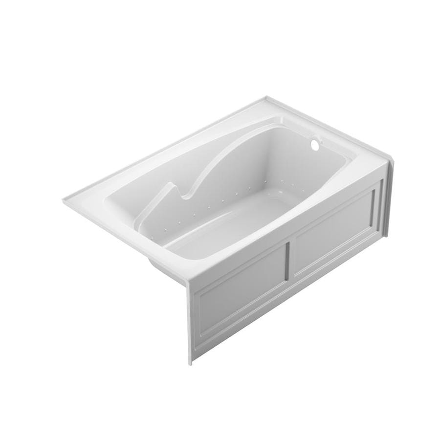 Shop Jacuzzi Cetra 60-in White Acrylic Skirted Air Bath with Right ...