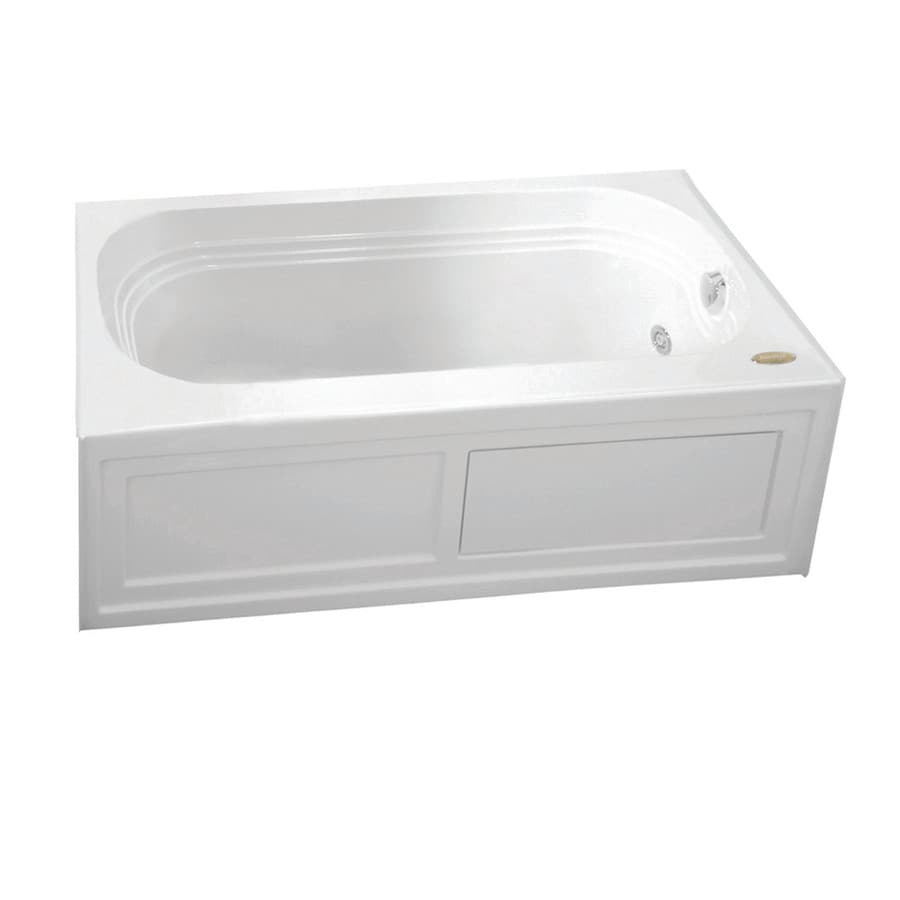 Jacuzzi Luxura 60-in White Acrylic Skirted Air Bath with Reversible Drain