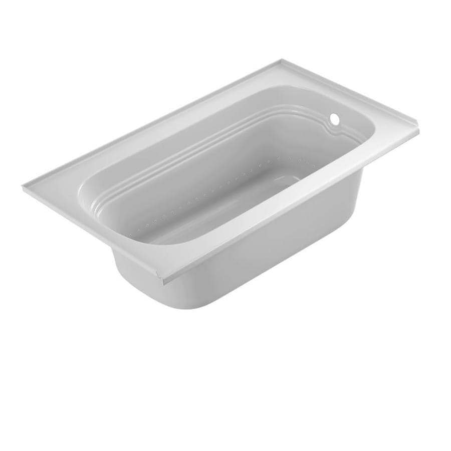 Jacuzzi Luxura 60-in White Acrylic Alcove Air Bath with Reversible Drain