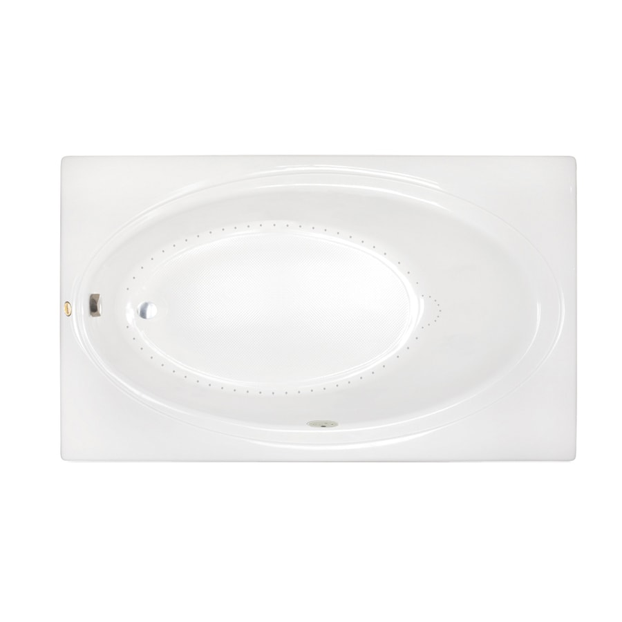 Jacuzzi Nova 72-in White Acrylic Skirted Air Bath with Reversible Drain