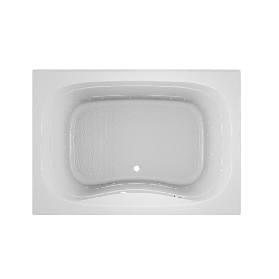 Jacuzzi Sig60-in White Acrylic Drop-In Air Bath with Front Center Drain