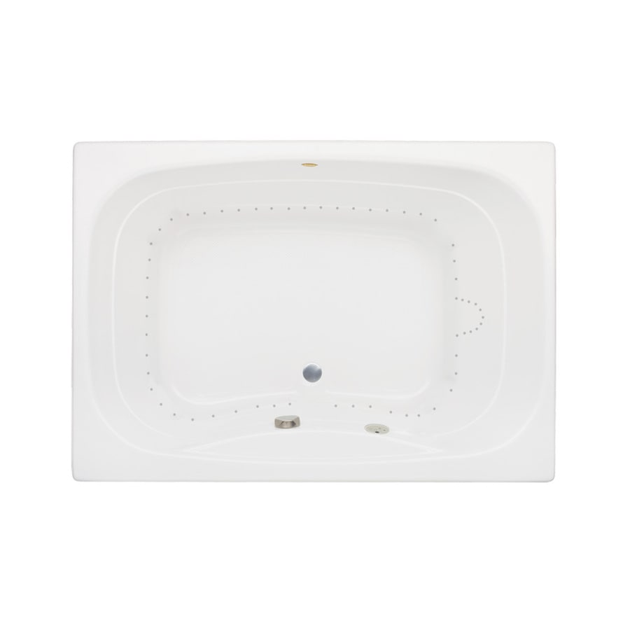 Jacuzzi Sig60-in White Acrylic Skirted Air Bath with Front Center Drain