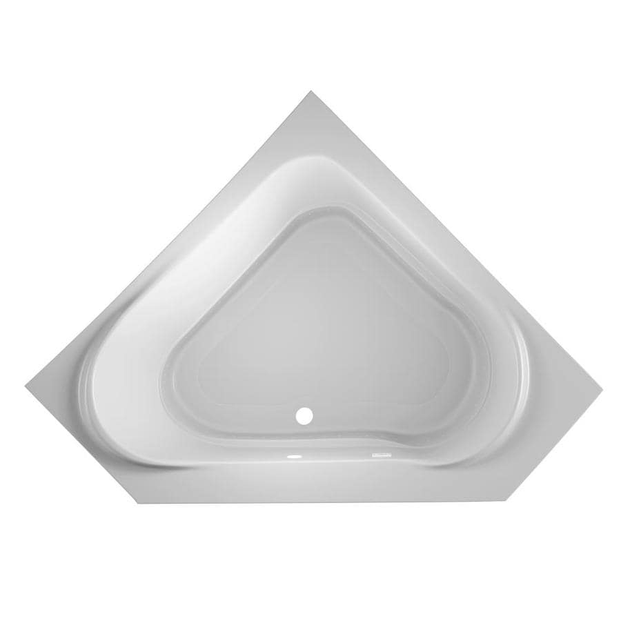 Jacuzzi Capella 60-in White Acrylic Drop-In Air Bath with Front Center Drain