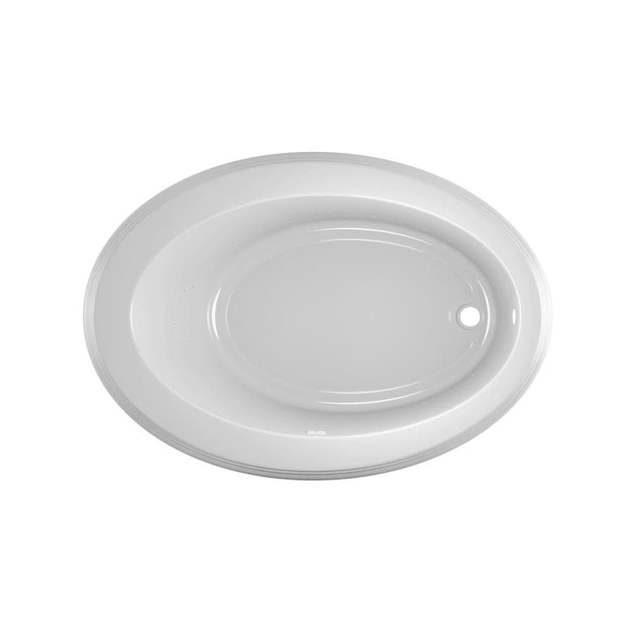 Jacuzzi Gallery 62-in White Acrylic Drop-In Air Bath with Reversible Drain