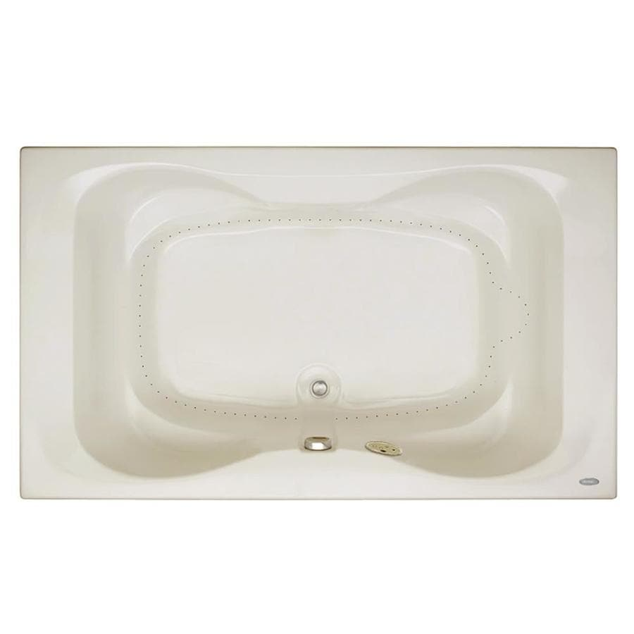 Jacuzzi Mito 60-in Oyster Acrylic Drop-In Air Bath with Front Center Drain
