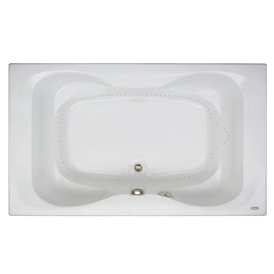 Jacuzzi Mito 72-in White Acrylic Drop-In Air Bath with Front Center Drain