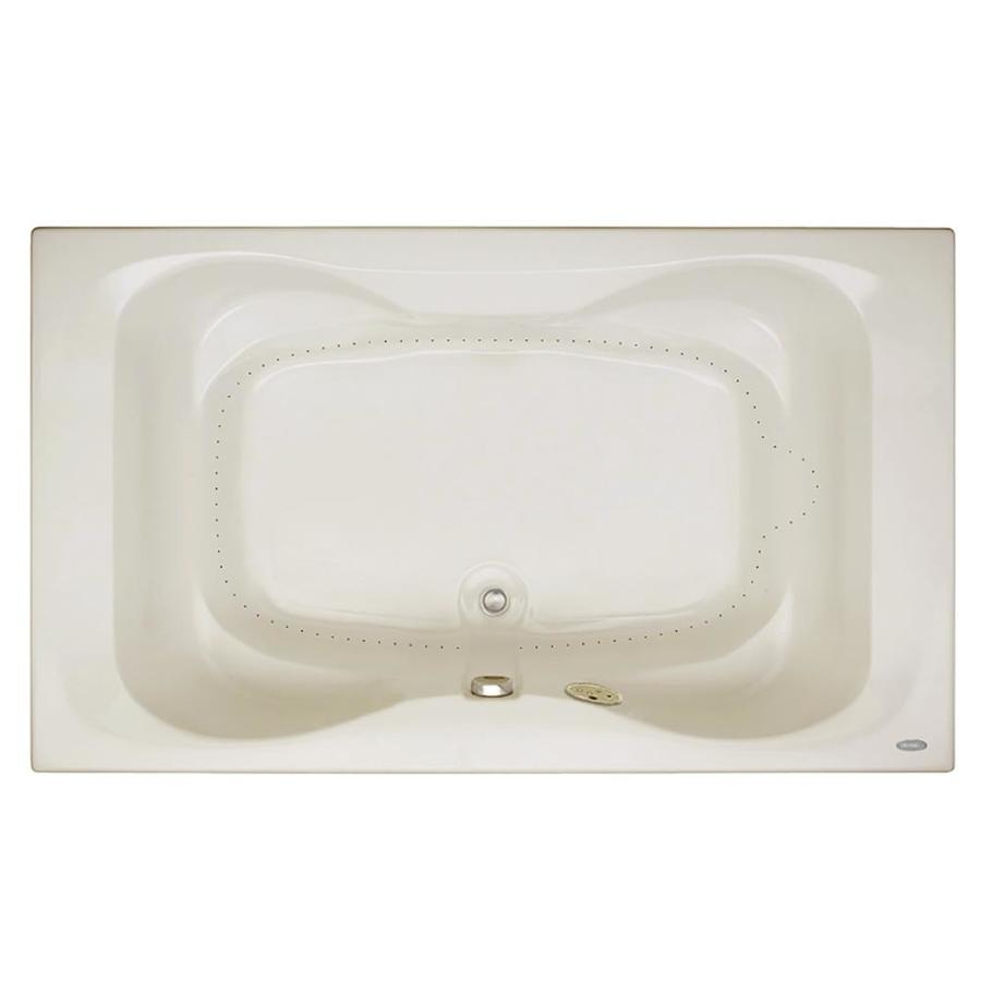 Jacuzzi Mito 72-in Oyster Acrylic Drop-In Air Bath with Front Center Drain