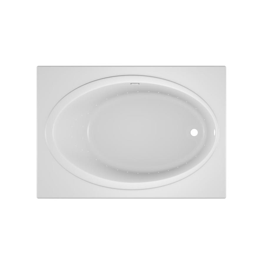 Jacuzzi Nova 60-in White Acrylic Drop-In Air Bath with Reversible Drain