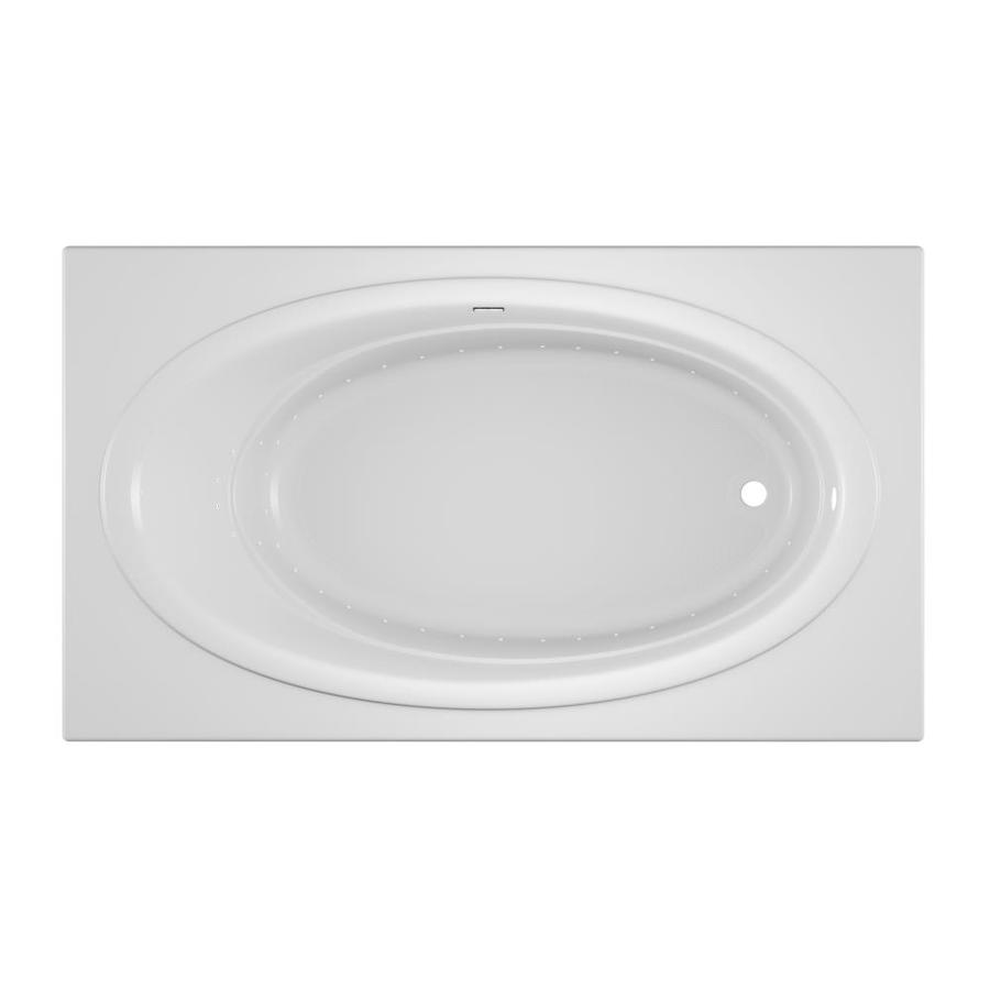 Jacuzzi Nova 72-in White Acrylic Drop-In Air Bath with Reversible Drain