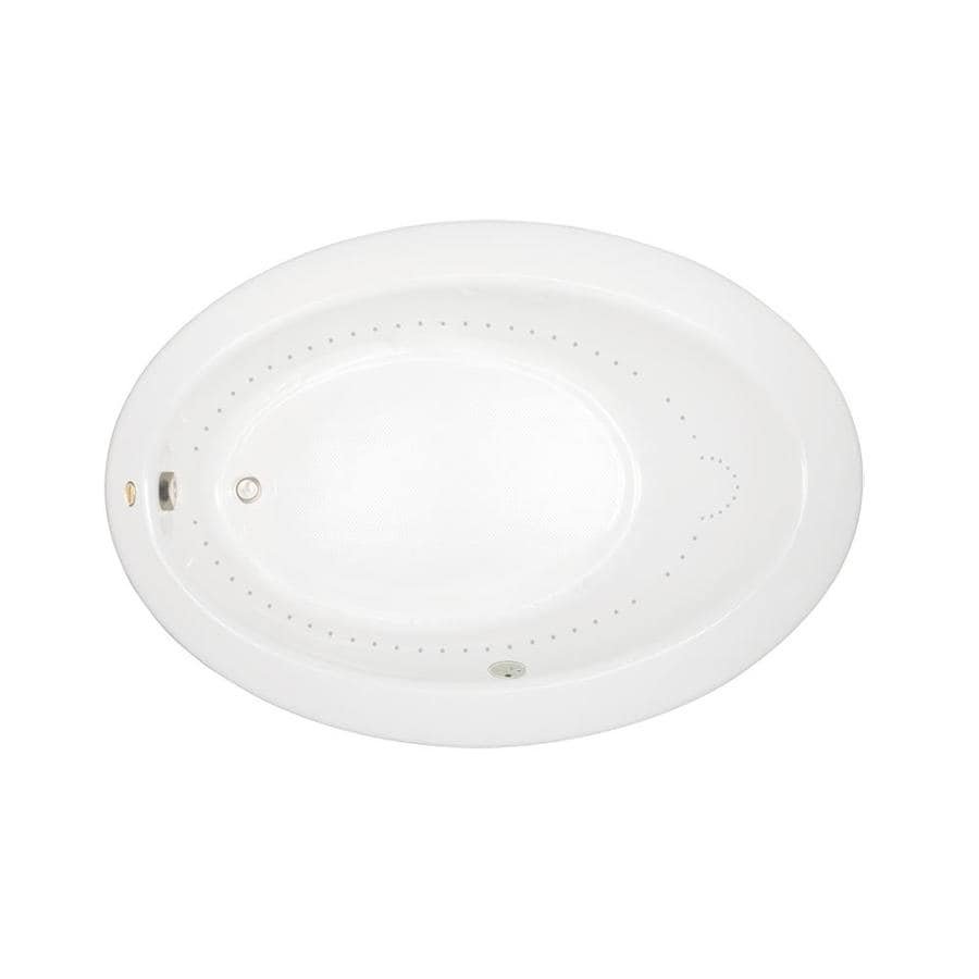 Jacuzzi Riva 72-in White Acrylic Drop-In Air Bath with Reversible Drain