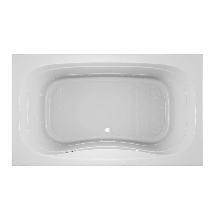 Jacuzzi Signa 72-in White Acrylic Drop-In Air Bath with Front Center Drain