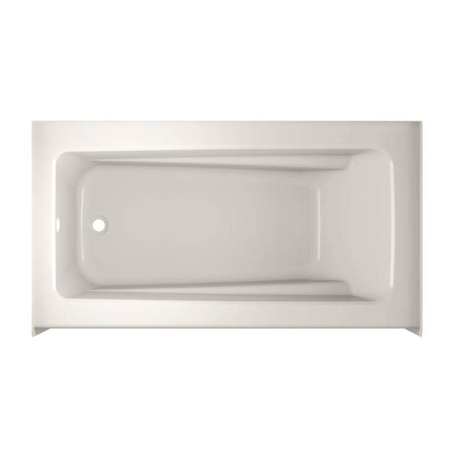 Jacuzzi Primo Oyster Acrylic Rectangular Skirted Bathtub with Left-Hand Drain (Common: 30-in x 60-in; Actual: 20.25-in x 30-in x 60-in)