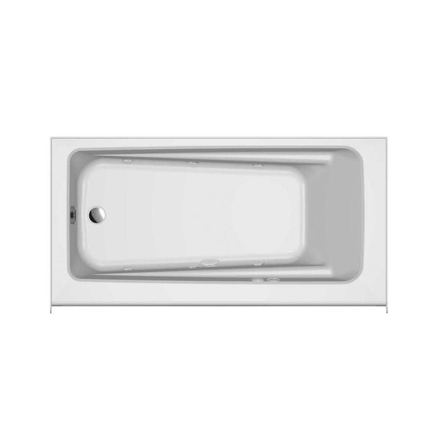 Shop Jacuzzi Primo 60-in White Acrylic Alcove Whirlpool Tub with ...