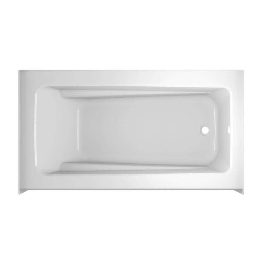 Jacuzzi Primo White Acrylic Rectangular Skirted Bathtub with Right-Hand Drain (Common: 30-in x 60-in; Actual: 20.25-in x 30-in x 60-in)