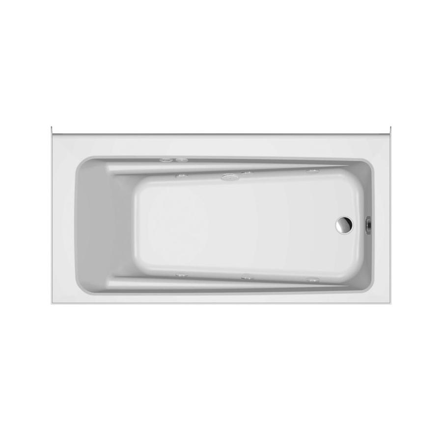 Jacuzzi Primo White Acrylic Rectangular Whirlpool Tub (Common: 30-in x 60-in; Actual: 20.25-in x 30-in x 60-in)
