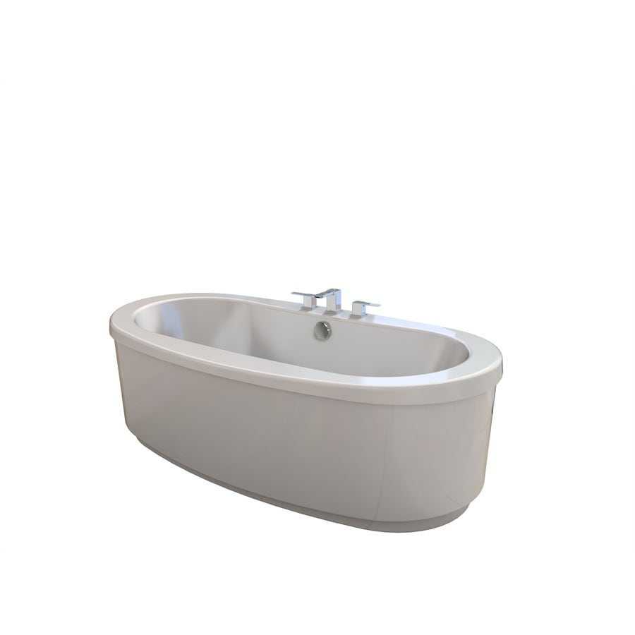 Shop Jacuzzi Bravo Acrylic Oval Freestanding Bathtub with Center ...