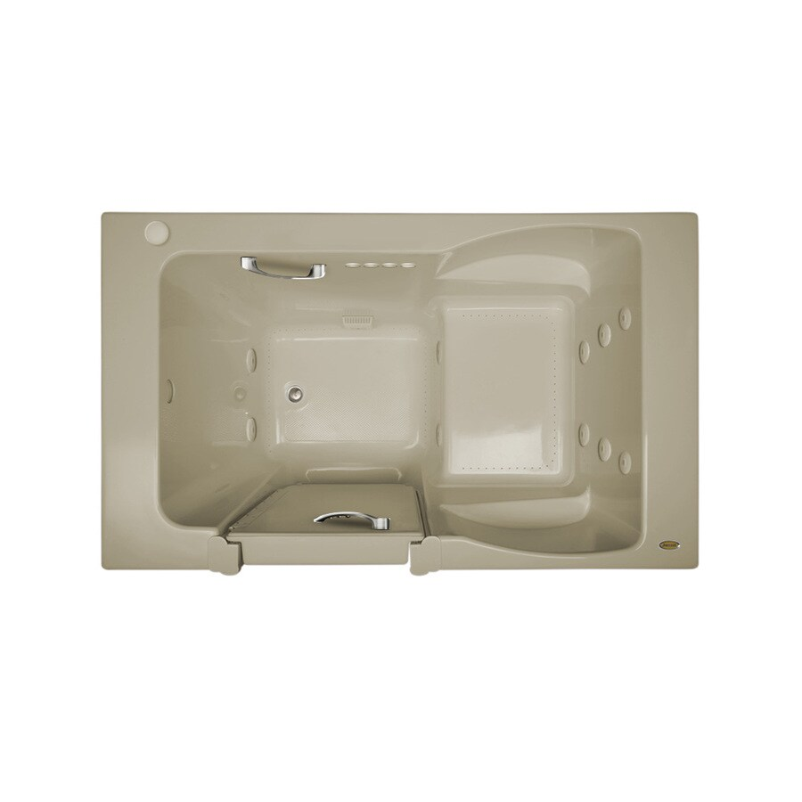 Jacuzzi Finestra 60-in L x 30-in W x 38.5-in H Almond Acrylic Rectangular Walk-in Whirlpool Tub and Air Bath