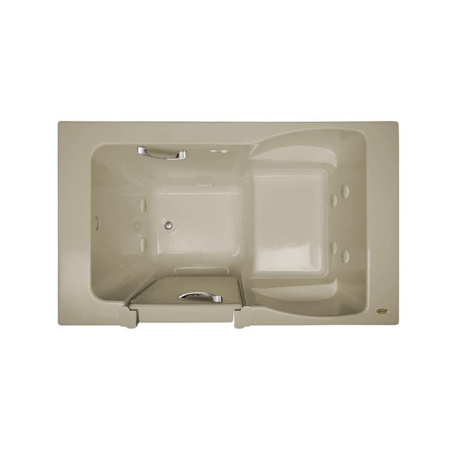 Jacuzzi Finestra 60-in Almond Acrylic Walk-In Whirlpool Tub with Left-Hand Drain