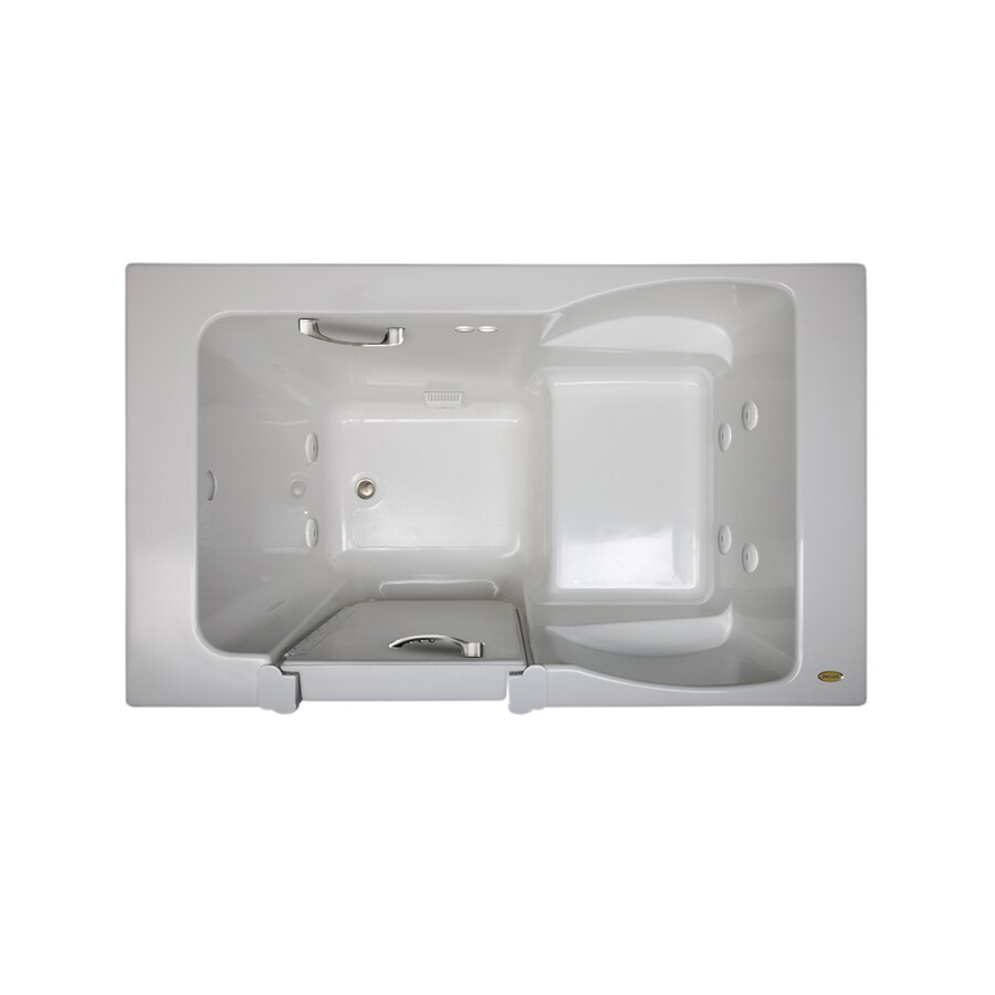 Jacuzzi Finestra 60-in White Acrylic Walk-In Whirlpool Tub with Left-Hand Drain