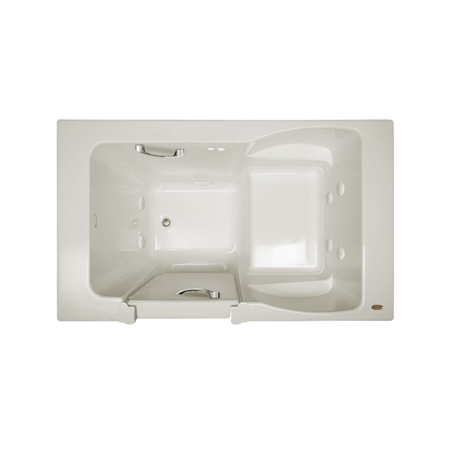 Jacuzzi Finestra 60-in Oyster Acrylic Walk-In Whirlpool Tub with Left-Hand Drain