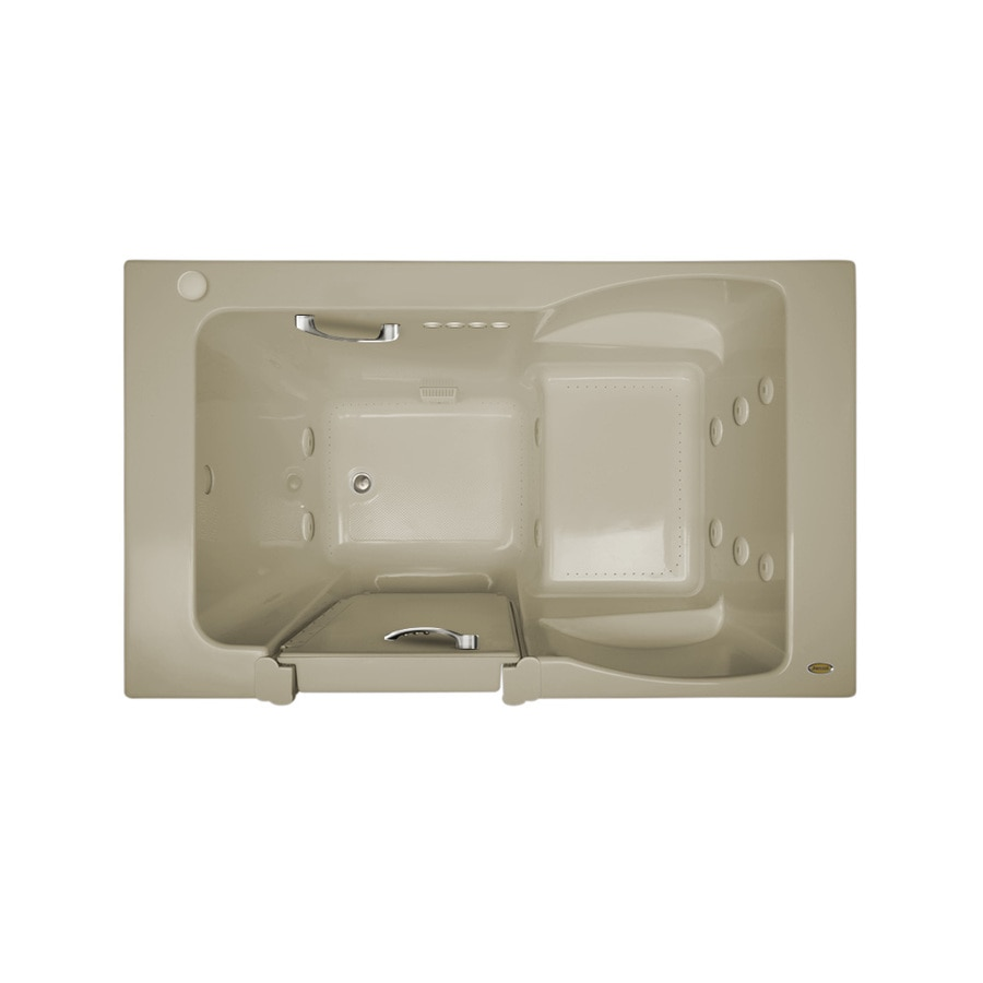 Jacuzzi Finestra 60-in L x 36-in W x 38.5-in H Almond Acrylic Rectangular Walk-in Whirlpool Tub and Air Bath