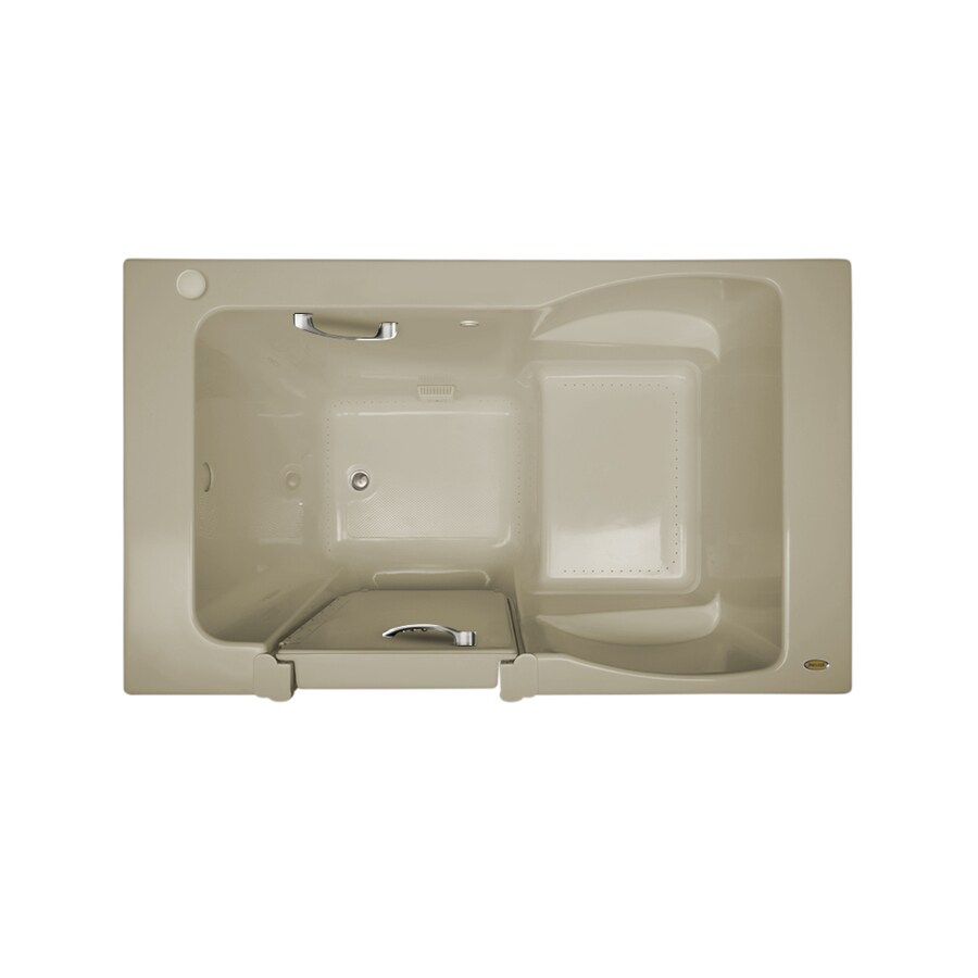 Jacuzzi Finestra 60-in Almond Acrylic Walk-In Air Bath with Right-Hand Drain