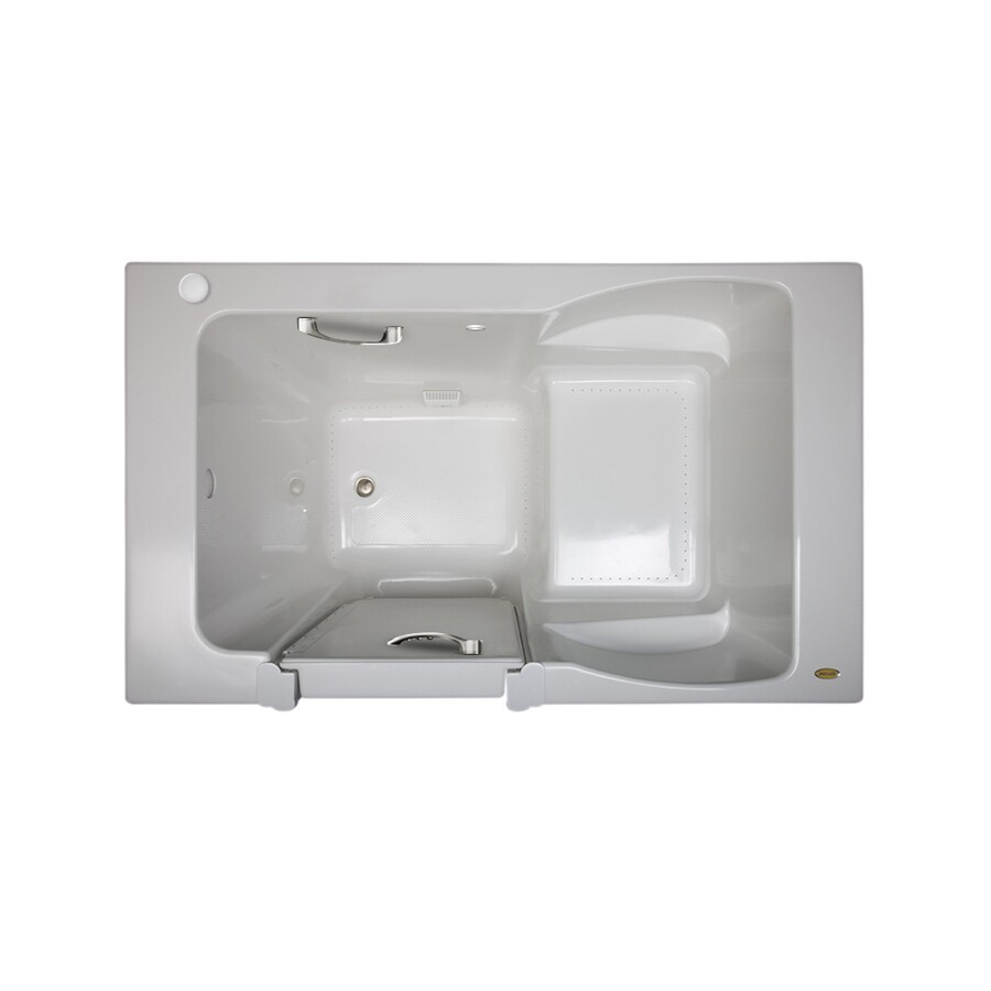 Jacuzzi Finestra 60-in White Acrylic Walk-In Air Bath with Right-Hand Drain