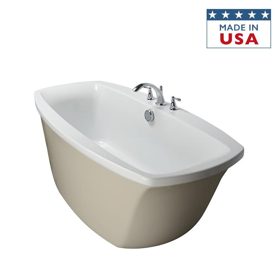 Jacuzzi Primo 66-in Almond/White Acrylic Bathtub with Center Drain