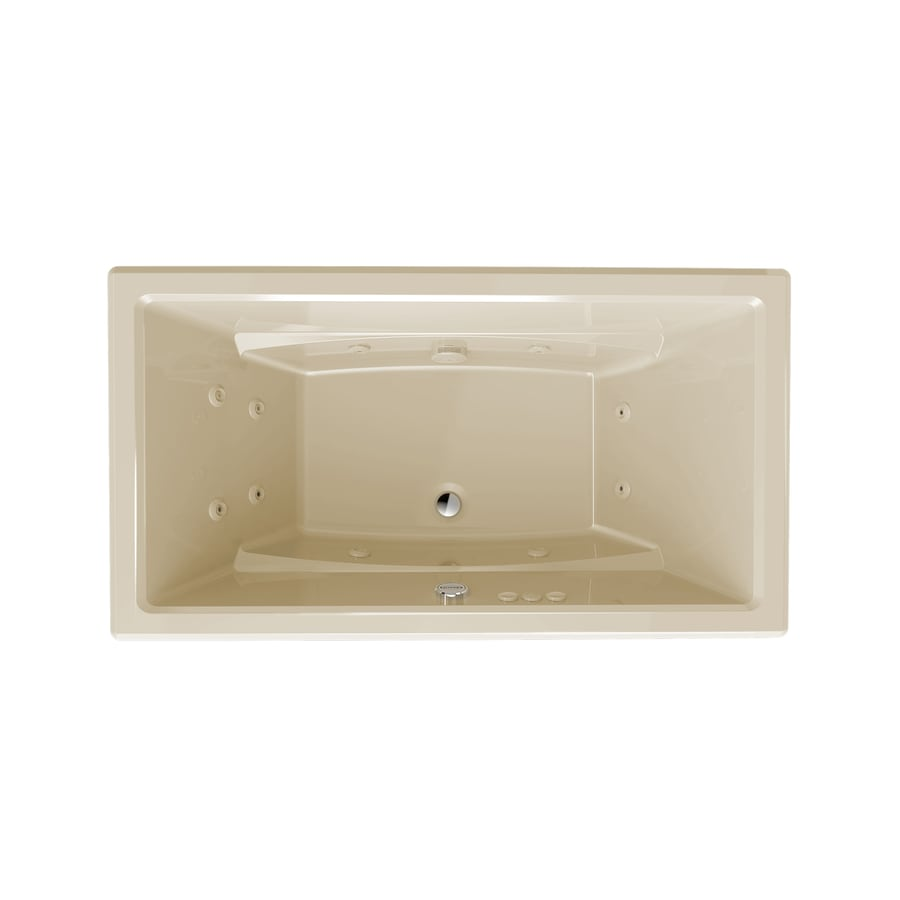 Jacuzzi Primo Almond Acrylic Rectangular Whirlpool Tub (Common: 36-in x 66-in; Actual: 23-in x 36-in x 66-in)