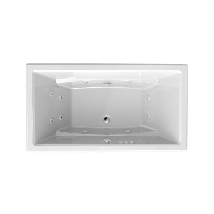Shop Jacuzzi Primo White Acrylic Rectangular Whirlpool Tub (Common ...