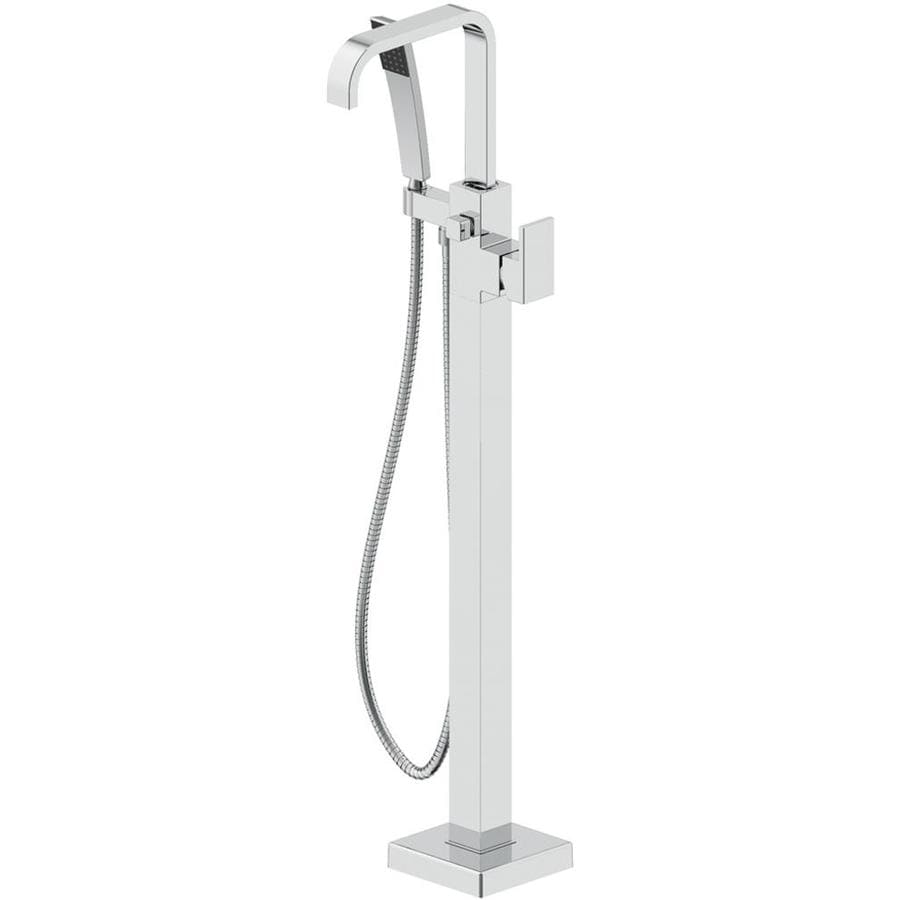 Shop Jacuzzi PRIMO Polished Chrome Handle Fixed Freestanding - Does lowes install bathtubs