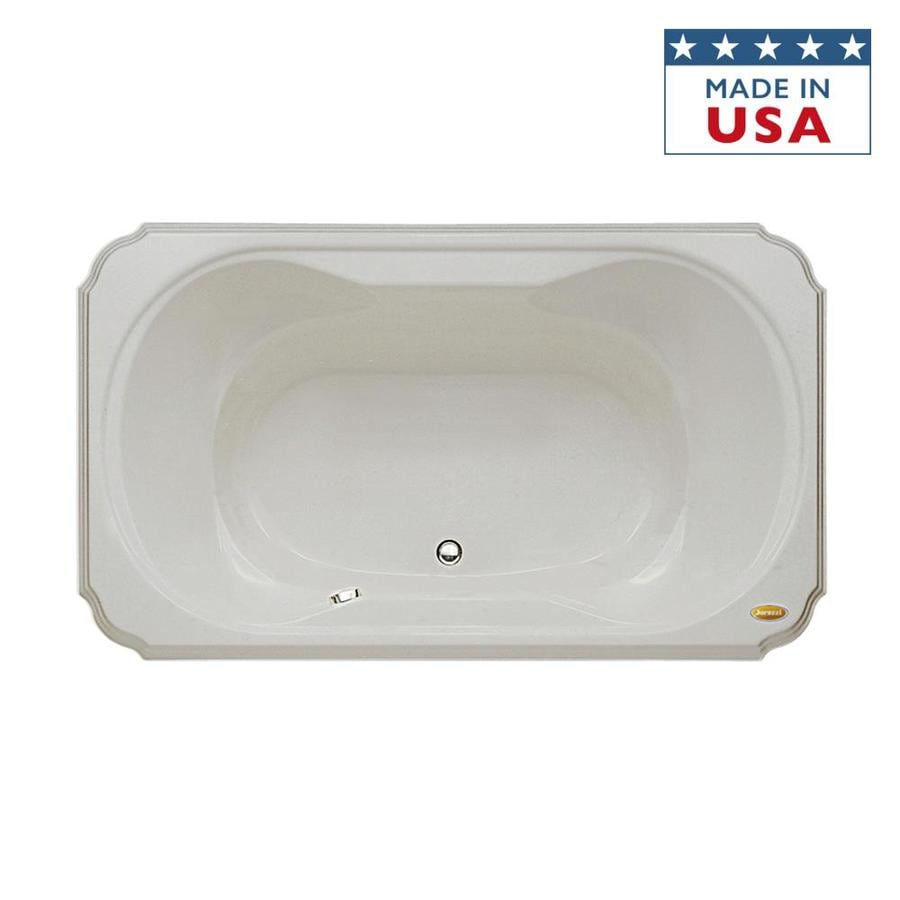 Jacuzzi Marineo 60-in Oyster Acrylic Bathtub with Center Drain