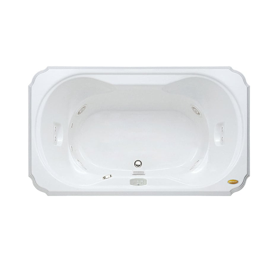 Jacuzzi Marineo White Acrylic Rectangular Whirlpool Tub (Common: 42-in x 60-in; Actual: 26-in x 42-in x 60-in)