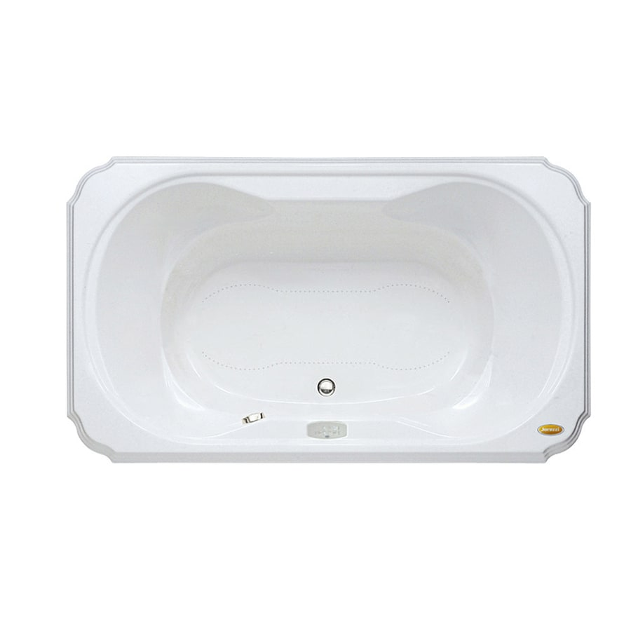Jacuzzi Marineo 60-in L x 42-in W x 26-in H White Acrylic Rectangular Drop-in Air Bath