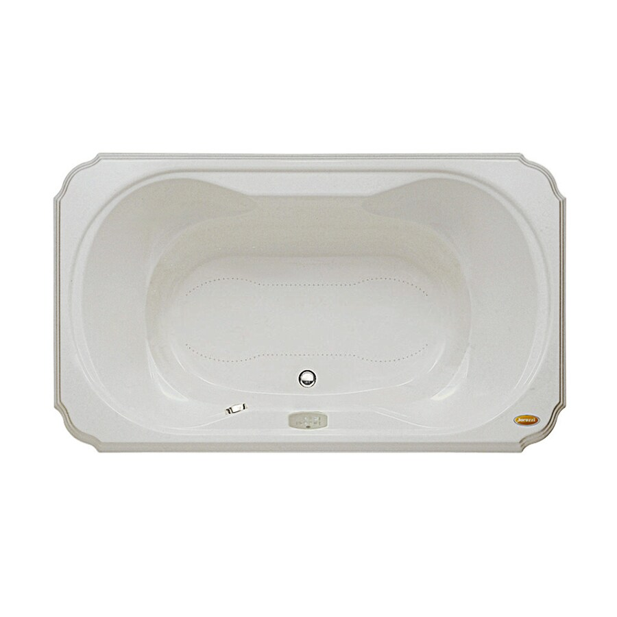 Jacuzzi Marineo 60-in Oyster Acrylic Drop-In Air Bath with Center Drain