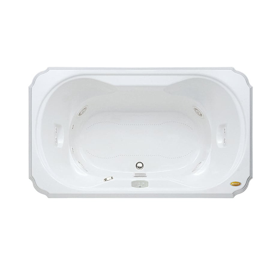 Jacuzzi Marineo 60-in L x 42-in W x 26-in H 1-Person White Acrylic Rectangular Whirlpool Tub and Air Bath