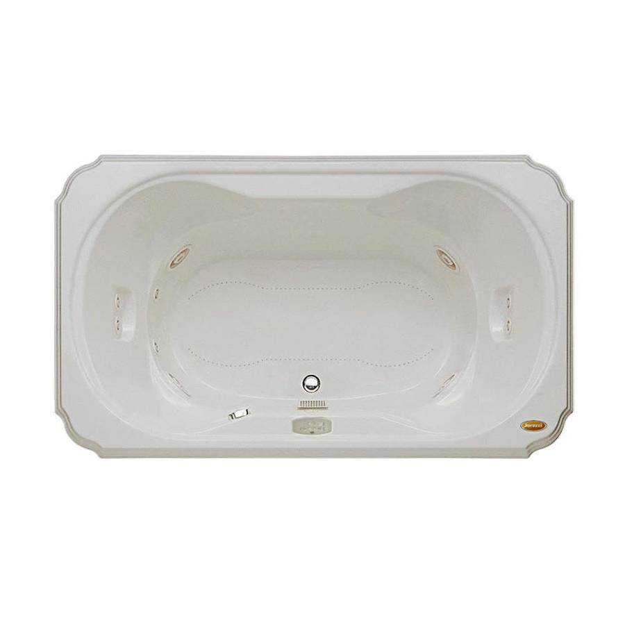 Jacuzzi Marineo 60-in Oyster Acrylic Drop-In Whirlpool Tub And Air Bath with Center Drain
