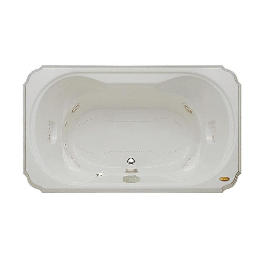 Jacuzzi Marineo 60-in L x 42-in W x 26-in H Oyster Acrylic Rectangular Whirlpool Tub and Air Bath