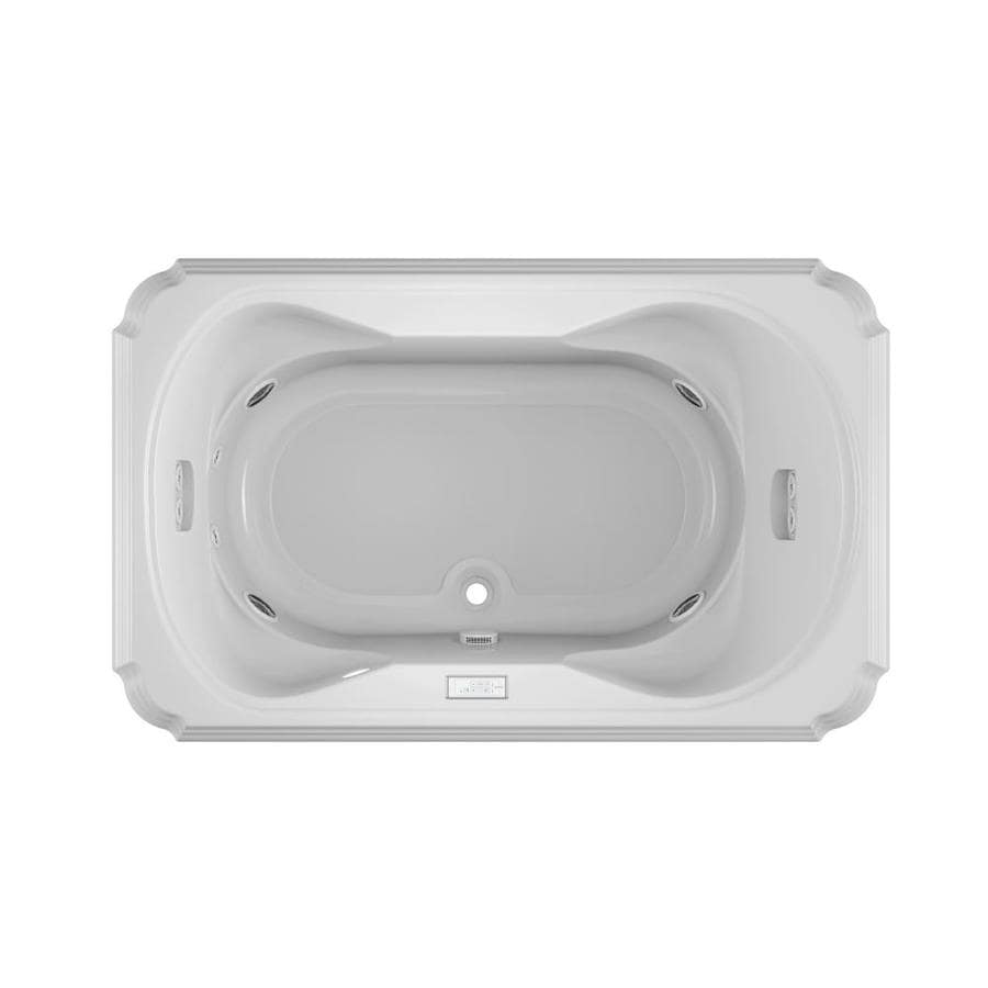 Jacuzzi Marineo 2-Person White Acrylic Rectangular Whirlpool Tub (Common: 42-in x 66-in; Actual: 26-in x 42-in x 66-in)
