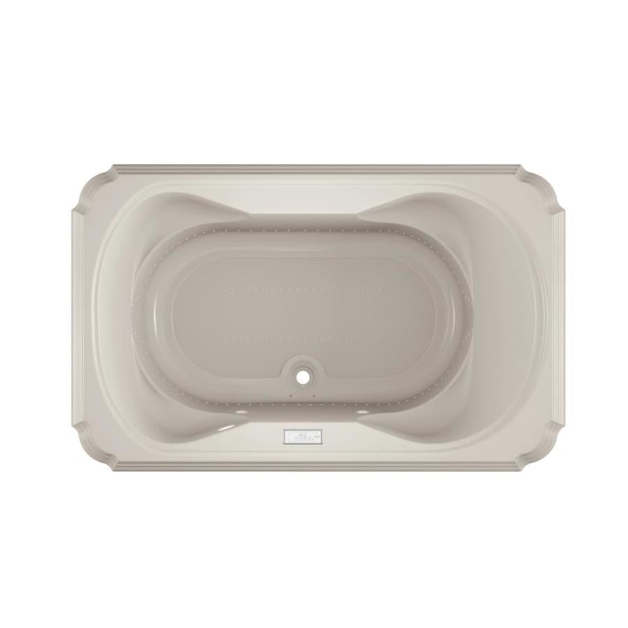 Jacuzzi Marineo 66-in Oyster Acrylic Drop-In Air Bath with Center Drain