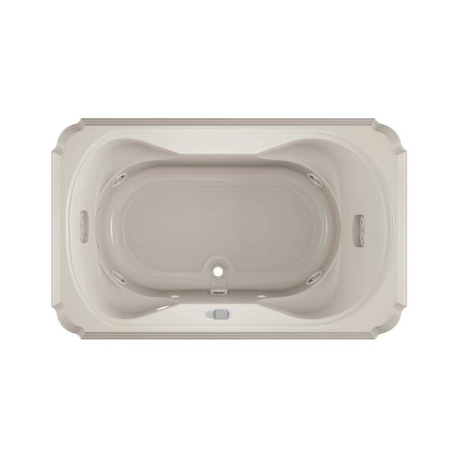 Jacuzzi Marineo 66-in L x 42-in W x 26-in H 2-Person Oyster Acrylic Rectangular Whirlpool Tub and Air Bath