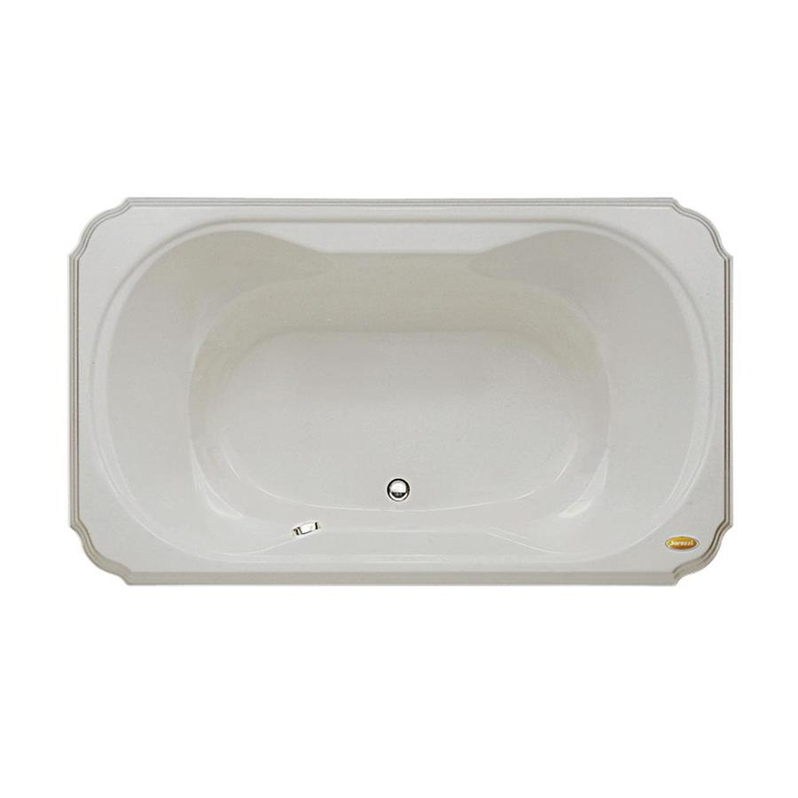 Jacuzzi Marineo Oyster Acrylic Rectangular Drop-In Bathtub with Center Drain (Common: 42-in x 72-in; Actual: 26-in x 42-in x 72-in)