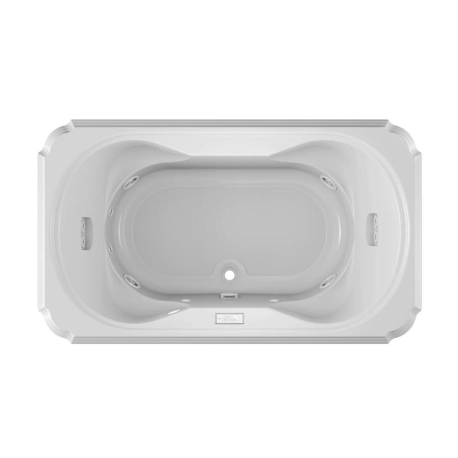 Jacuzzi Marineo 2-Person White Acrylic Rectangular Whirlpool Tub (Common: 42-in x 72-in; Actual: 26-in x 42-in x 72-in)