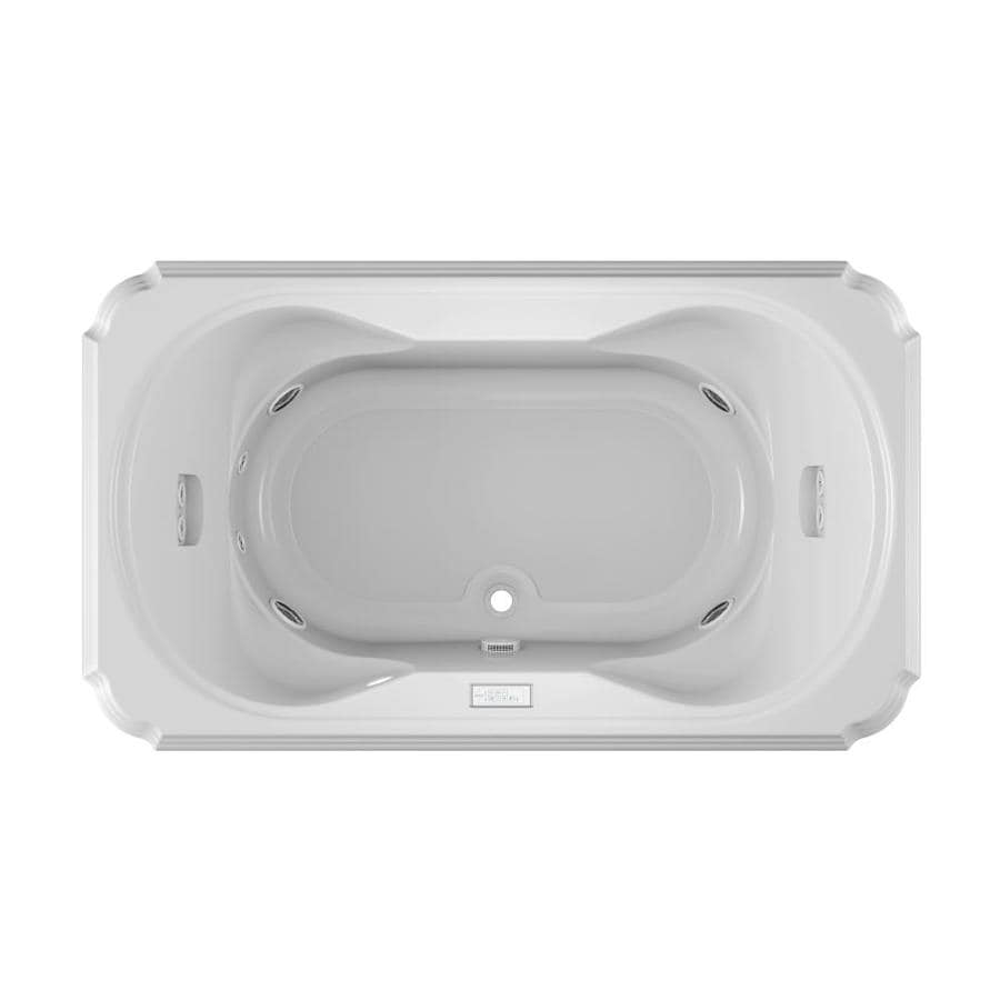 jacuzzi marineo person white acrylic rectangular whirlpool tub common in